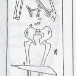Schéma hrobu č. 113 z naleziště Jauneikiai. Převzato z Tautavičius 1996: 93, Obr. 22.